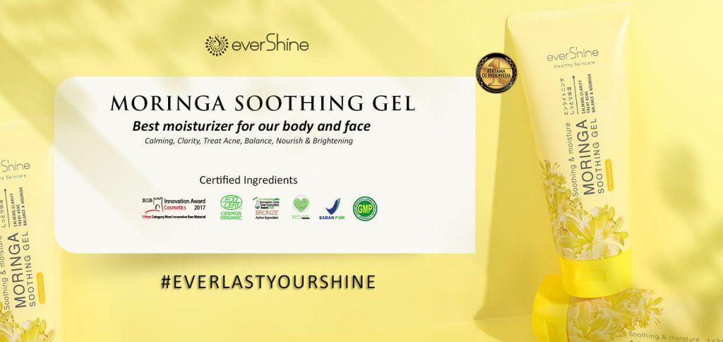 everlasting your shine with evershine moringa soothing gel